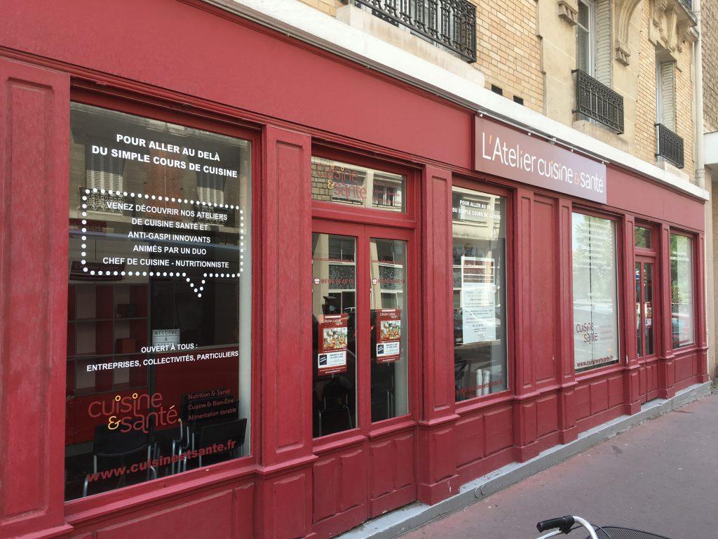 Photo Vitrophanie Atelier cuisine et santé